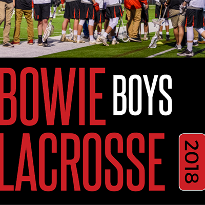 Bowie Boys Lacrosse Program design by Gretchen Heber