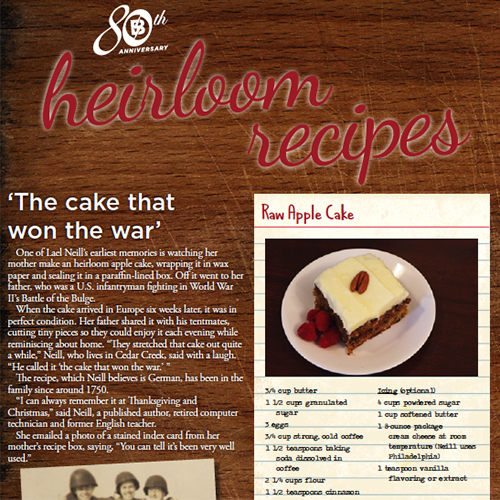 Heirloom recipes layout by Gretchen Heber | SocialGazelle.com